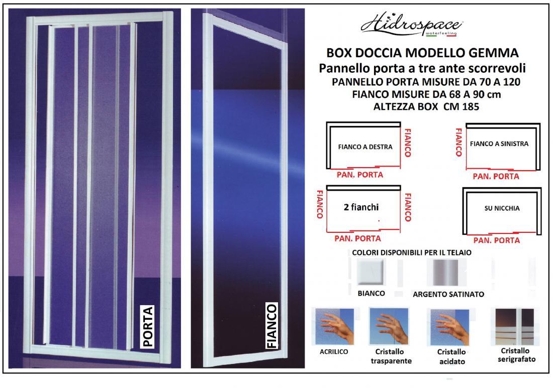 Box Doccia 70 x 120 Box Doccia Gemma da 70 a 120
