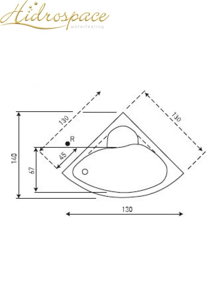Vasca idromassaggio angolare ibis 120x120 130x130 - Vasche da bagno grandi dimensioni ...