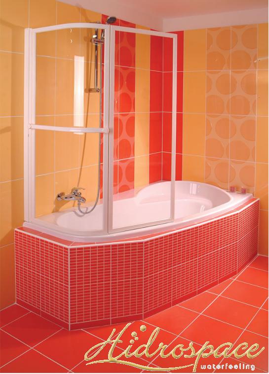 Vasca da bagno asimmetrica 100 x 150 for Vasche da bagno rotonde