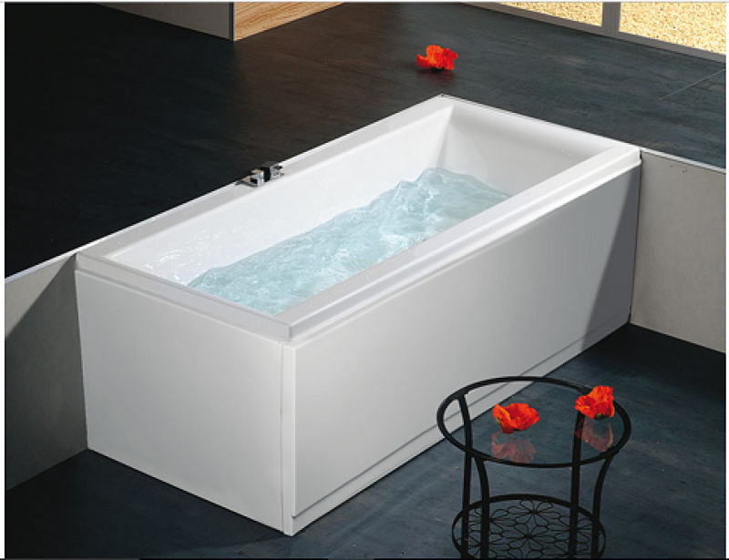 Albatros duo 180x80 180x90 vasca da bagno rettangolare - Misure vasche da bagno ...