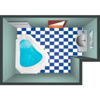 SANTAFE'  Vasca con idromassaggio  163x163 cm