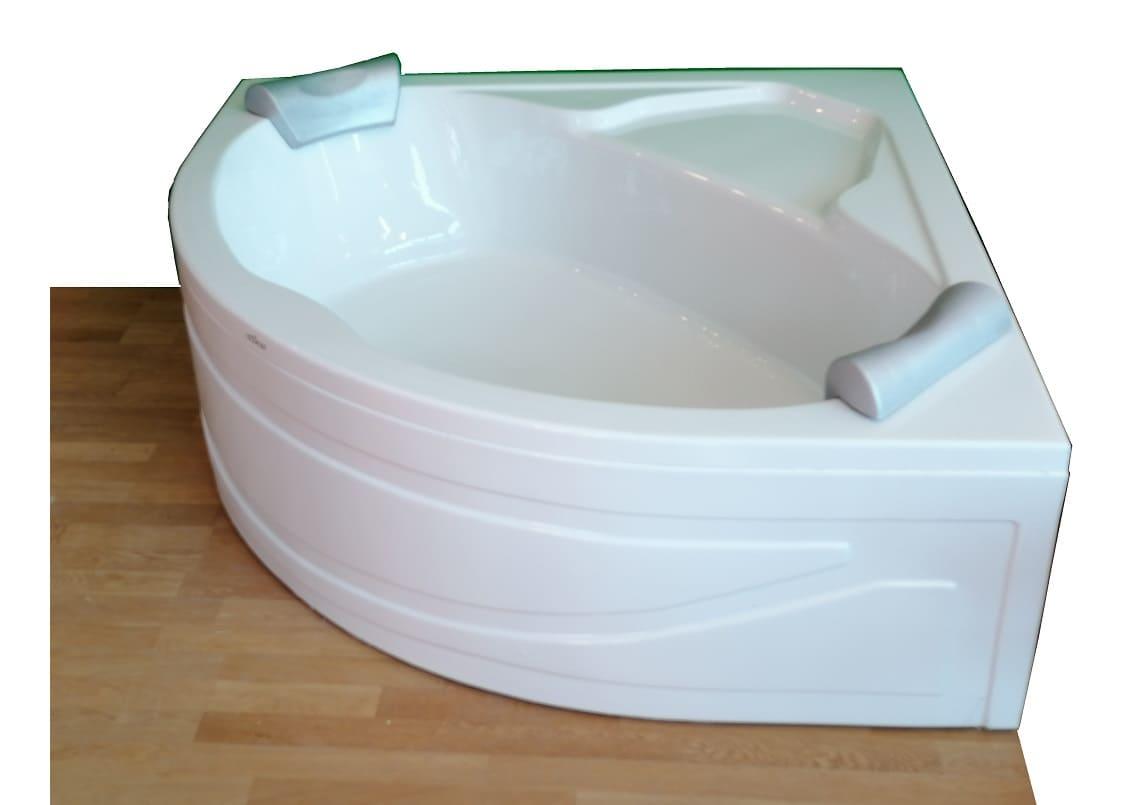 Foglia 140 x 140 - vasca da bagno angolare con seduta ...
