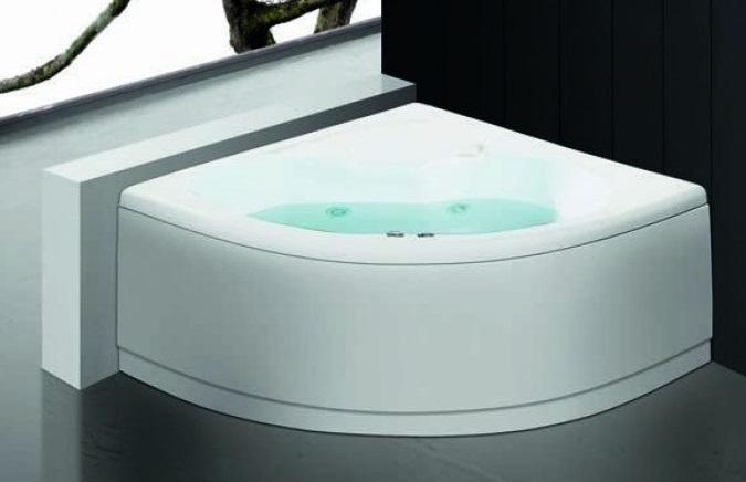 Angolare Per Vasca Da Bagno : Vasca da bagno idromassaggio angolare bianca meves bianco vasche