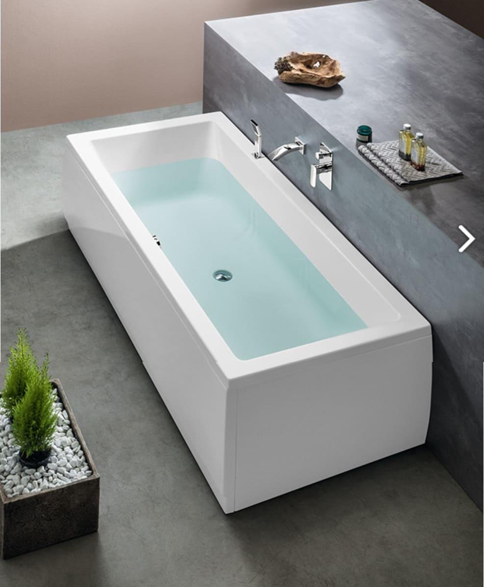Vasca da bagno con idromassaggio, doppio schienale, misure ...