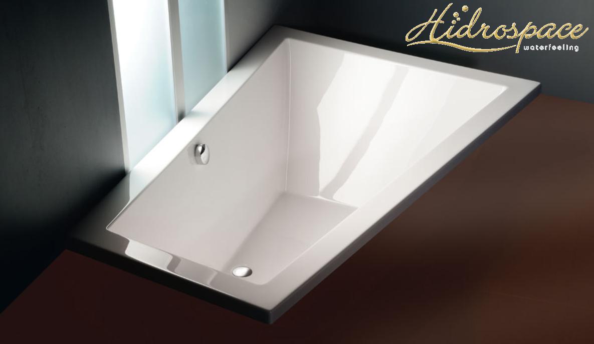 Vasca Da Bagno Da Incasso : Trial vasca da bagno asimmetrica