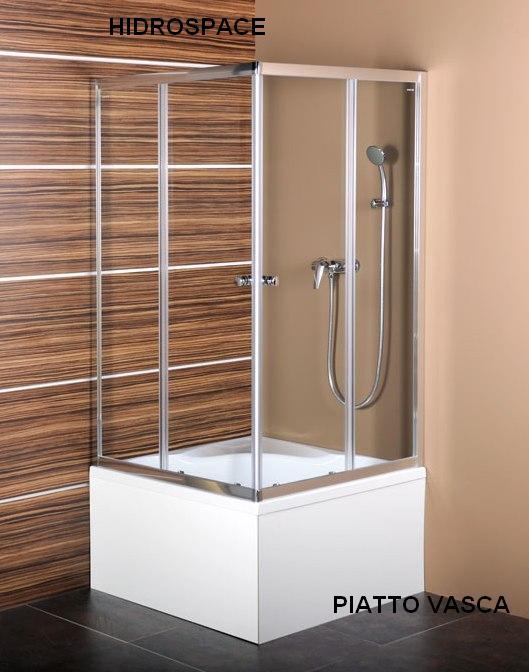 Vasca doccia quadrata 90 x 90 cm, con pannelli e box ...