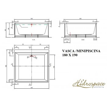 ANTIGUA 190 X 180 VASCA IDROMASSAGGIO GRANDE