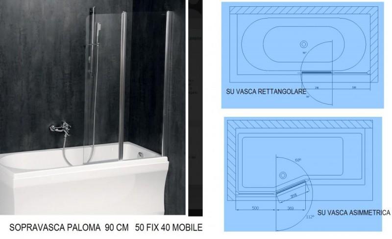 BOX SOPRAVASCA MODELLO PALOMA 90 X 150  E 120 X 150