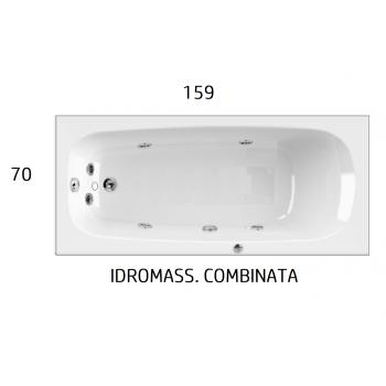 CLASSIC 120-130-140 x 70 VASCA IDROMASSAGGIO RETTANGOLARE