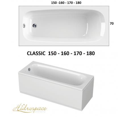 CLASSIC 150-160-170x70-180 x 80 IDROMASSAGGIO RETTANGOLARE