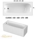CLASSIC 150-160-170 x 70 180 x 80 VASCA IDROMASSAGGIO RETTANGOLARE