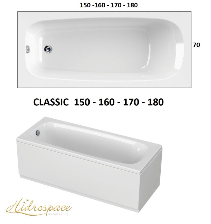 Vasche Da Bagno Di Dimensioni Standard E Con Sistema Di Idromassaggio Lunghezza Da Cm 150 A Cm 180 Larghezza Cm 70