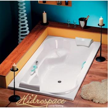 FLIPPER vasca due posti  200 x 120 con sedute