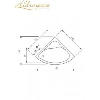 IBIS ANGOLARE CON SEDUTA IDRO 130X130 cm
