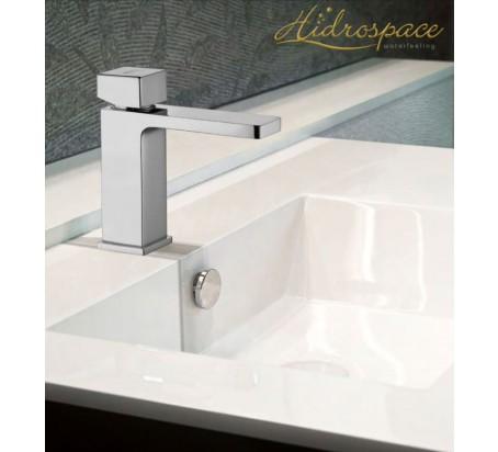 Minimal/Miscelatore lavabo D.35 con scarico click-clack 1″ 1/4 e attacchini flessibili