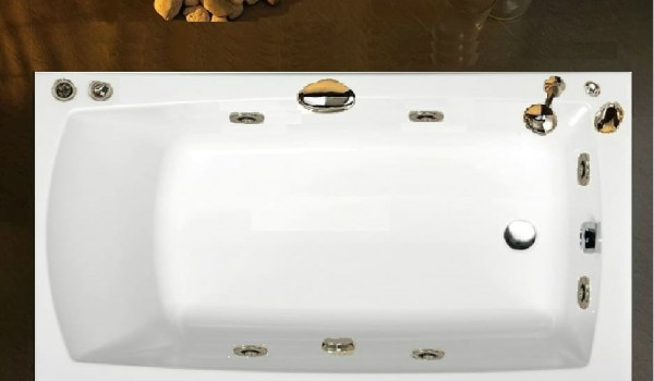 Vasca Da Bagno Piccole Dimensioni 120 : Pratika 120 130 140 150x70 vasca idromassaggio rettangolare