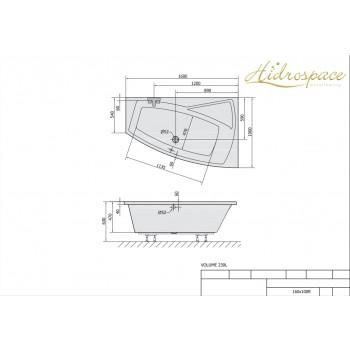 ROSE Vasca asimmetrica 100x170 100x160 cm