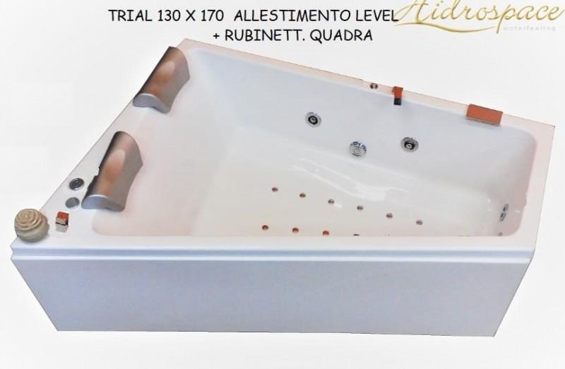 TRIAL 120 X 160 IDROMASSAGGIO ASIMMETRICA
