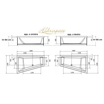 TRIAL 120x180 VASCA DA BAGNO ASIMMETRICA