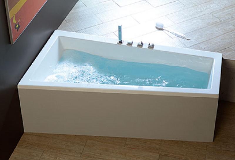 Vasche Da Bagno Idromassaggio : Trial vasca idromassaggio asimmetrica