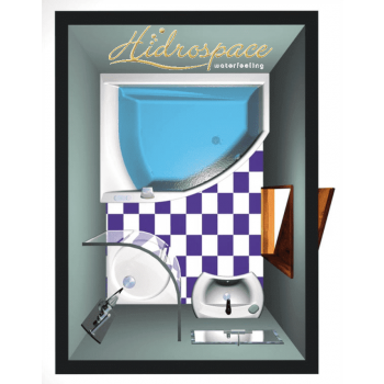TULIPAN 130x170 VASCA IDROMASSAGGIO ASIMMETRICA