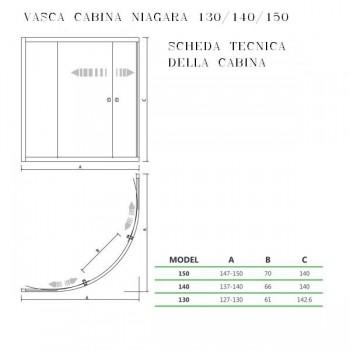 VASCA CABINA NIAGARA ANGOLARE 140